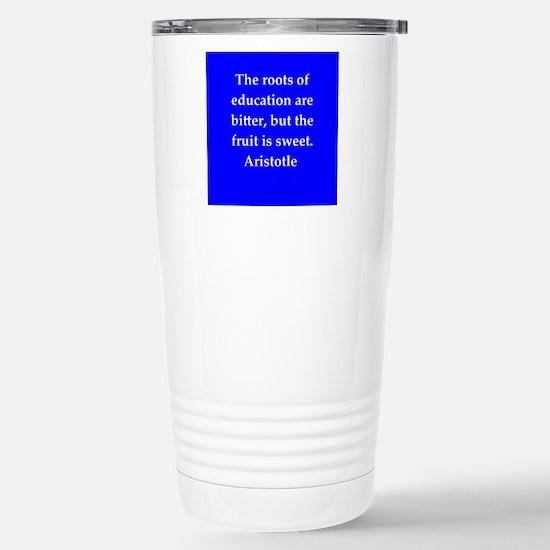 Wisdom of Aristotle Stainless Steel Travel Mug