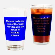 Wisdom of Aristotle Drinking Glass