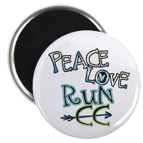 "Peace Love Run CC 2.25"" Magnet (10 pack)"