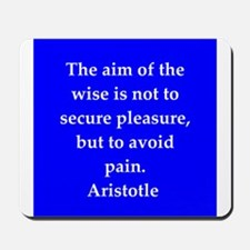Wisdom of Aristotle Mousepad