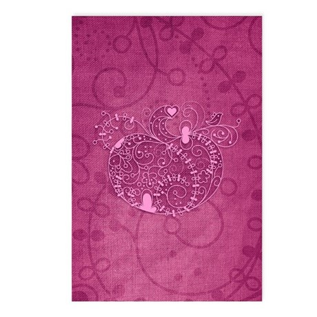 Curly Pumpkin (Pink) Postcards (Package of 8)