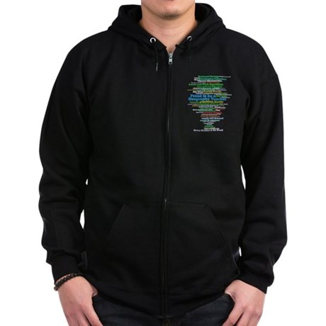 Geography Teacher's Zip Hoodie (dark)