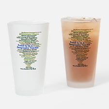 Geography Teacher's Drinking Glass