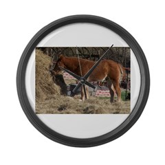 cOUNTRY sCENE Large Wall Clock