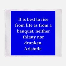 Wisdom of Aristotle Throw Blanket