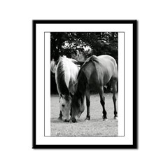 pONY lOVE bLACK AND WHITE Framed Panel Print