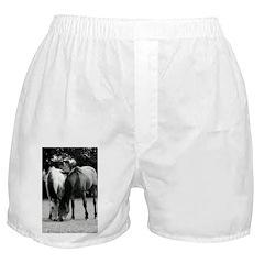 pONY lOVE bLACK AND WHITE Boxer Shorts