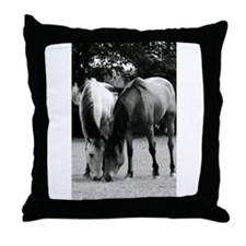 pONY lOVE bLACK AND WHITE Throw Pillow