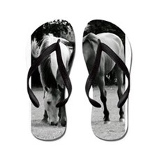 pONY lOVE bLACK AND WHITE Flip Flops