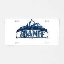 Banff Blue Mountain Aluminum License Plate