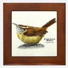 Carolina Wren Framed Tile