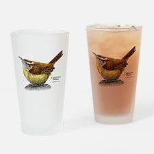 Carolina Wren Drinking Glass