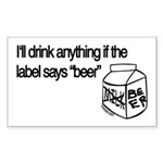 Ultimate Beer Drinking Rectangle Sticker