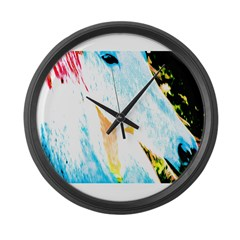 pAINT HORSE Large Wall Clock