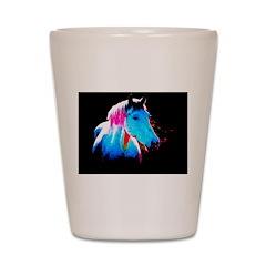 pAINT HORSE Shot Glass
