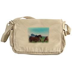oKLAHOMA WILD hORSES Messenger Bag