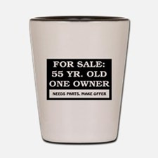 For Sale 55 Year Old Birthday Shot Glass