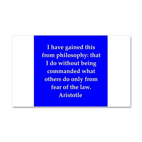 Wisdom of Aristotle Car Magnet 20 x 12