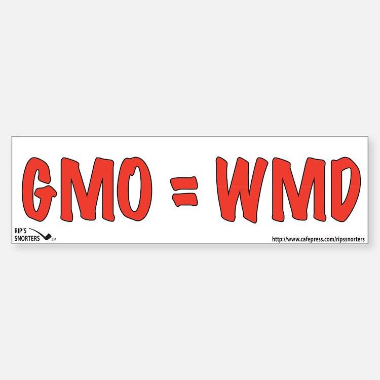GMO=WMD Bumper Bumper Sticker