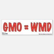 GMO=WMD Sticker (Bumper)
