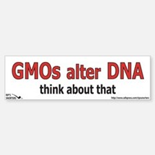 GMO's alter DNA Car Car Sticker