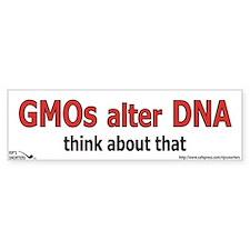 GMO's alter DNA Car Sticker
