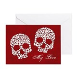 Goth anniversary card Greeting Cards