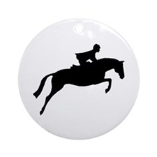 h/j horse & rider Ornament (Round)