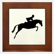h/j horse & rider Framed Tile