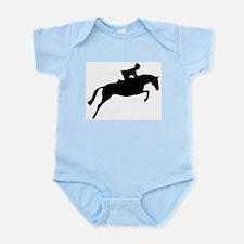 h/j horse & rider Infant Bodysuit