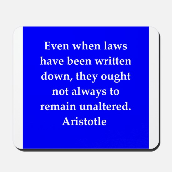 Wisdom of Aristotle Mousepad