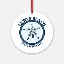 Lewes Beach DE - Sand Dollar Design. Ornament (Rou