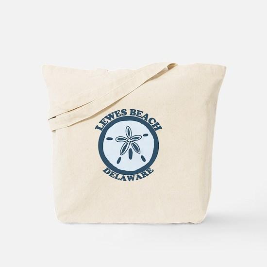 Lewes Beach DE - Sand Dollar Design. Tote Bag