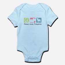 Peace, Love, Frenchies Infant Bodysuit