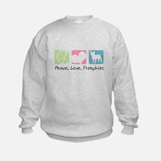 Peace, Love, Frenchies Sweatshirt