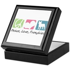Peace, Love, Frenchies Keepsake Box