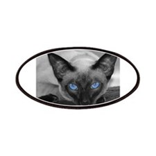 Siamese Cat B&W Photo Art Patches