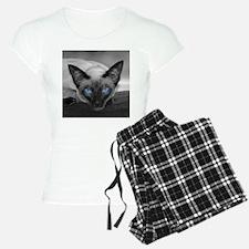 Siamese Cat B&W Photo Art Pajamas