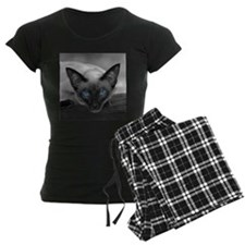 Siamese Cat B&W Photo Art Pajamas