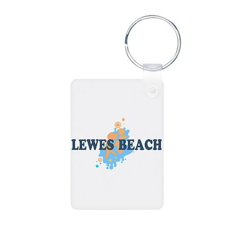 Lewes Beach DE - Seashells Design Aluminum Photo K