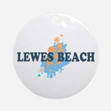 Lewes Beach DE - Seashells Design Ornament (Round)