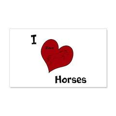 I love horses 22x14 Wall Peel