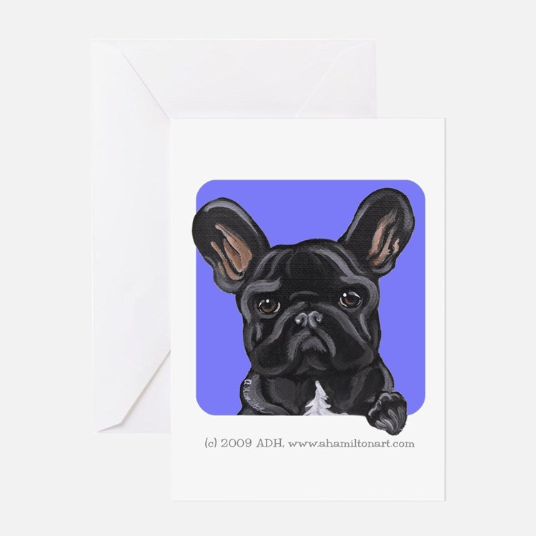 Black French Bulldog Lover Greeting Card
