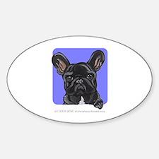 Black French Bulldog Lover Sticker (Oval)
