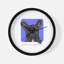 Black French Bulldog Lover Wall Clock