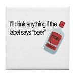 Funny Beer Drinker's Tile Coaster