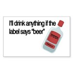 Funny Beer Drinker's Rectangle Sticker