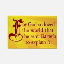 For God So Loved Darwin Rectangle Magnet