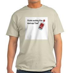 Funny Beer Drinker's Ash Grey T-Shirt