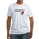 Funny Beer Drinker's Fitted T-Shirt